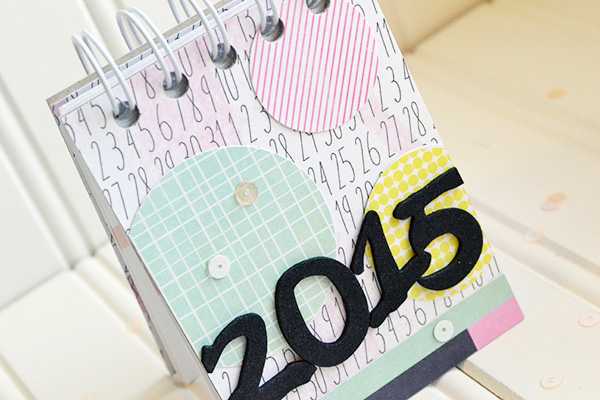 2015 Desk Calendar by Aly Dosdall_close