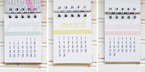 2015 Desk Calendar by Aly Dosdall_pages