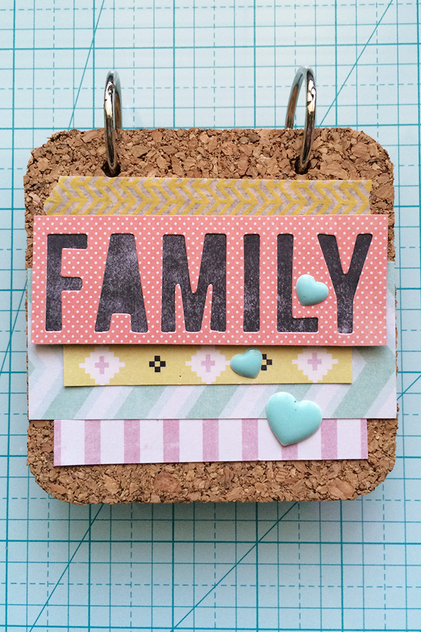 Cork Board Coaster Memory Book by Aly Dosdall 1