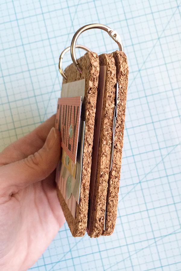 Cork Board Coaster Memory Book by Aly Dosdall 2