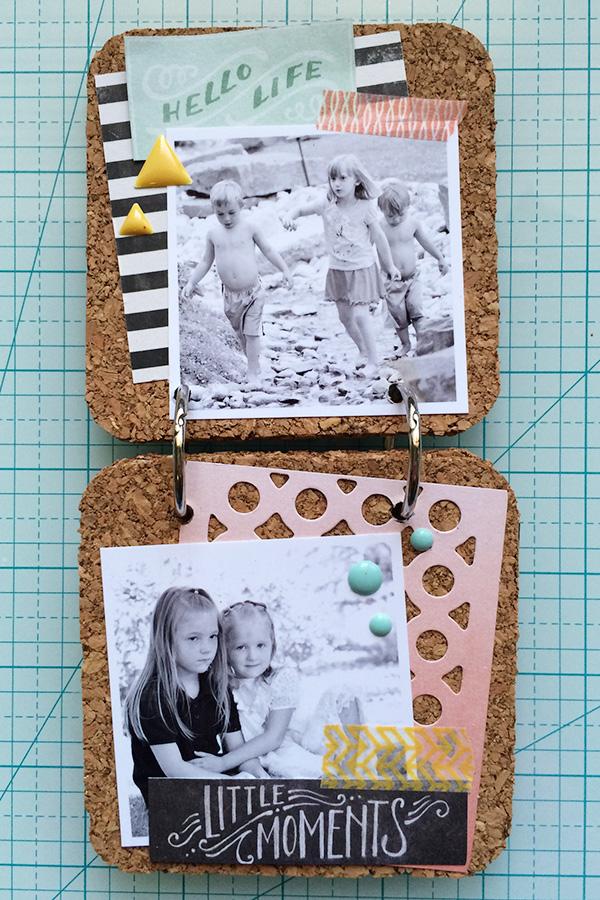 Cork Board Coaster Memory Book by Aly Dosdall 3