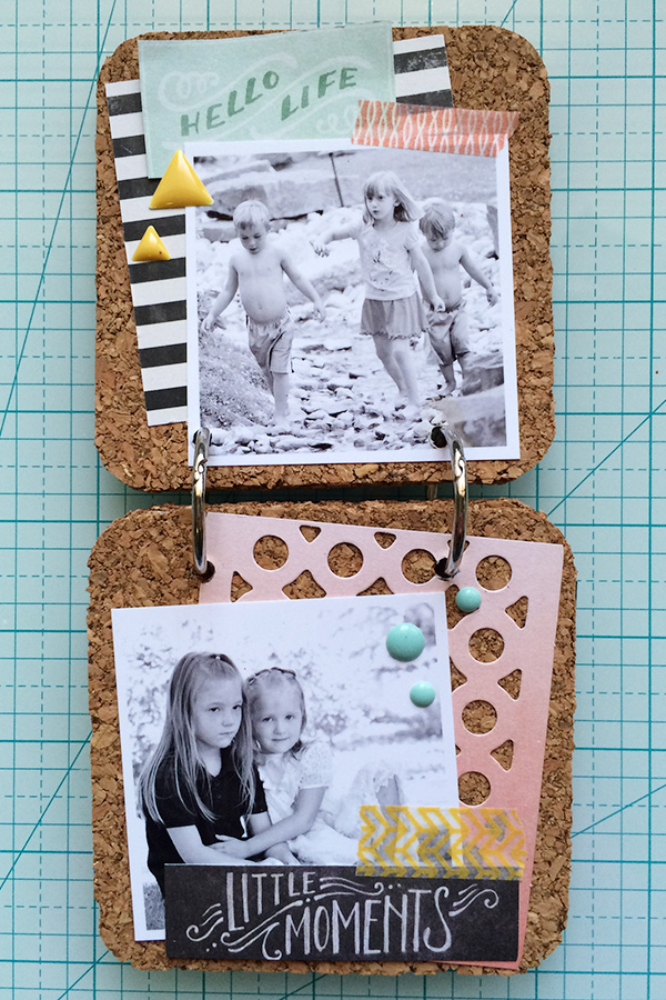 Cork Board Coaster Memory Book by Aly Dosdall 3