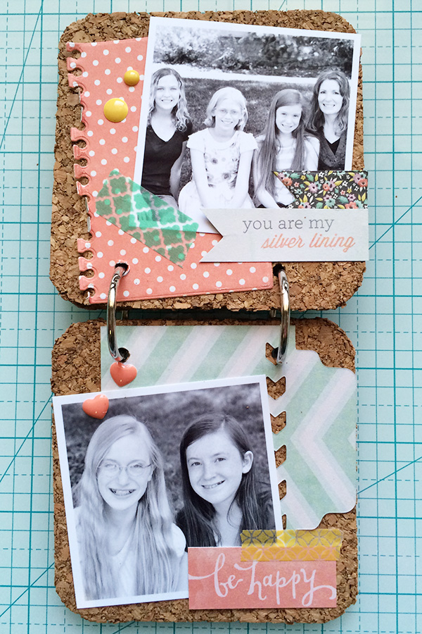 Cork Board Coaster Memory Book by Aly Dosdall 4