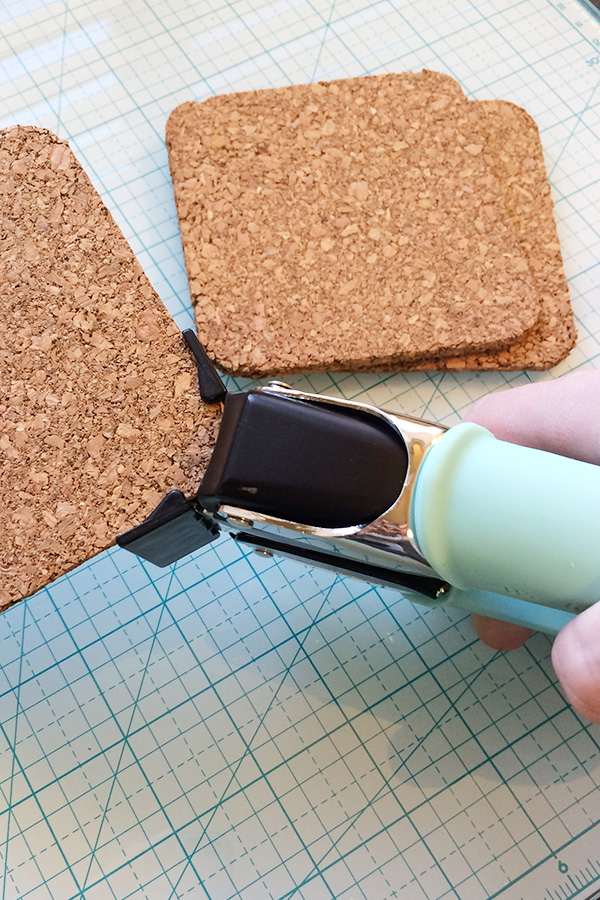 how to cut 1 2 inch cork board