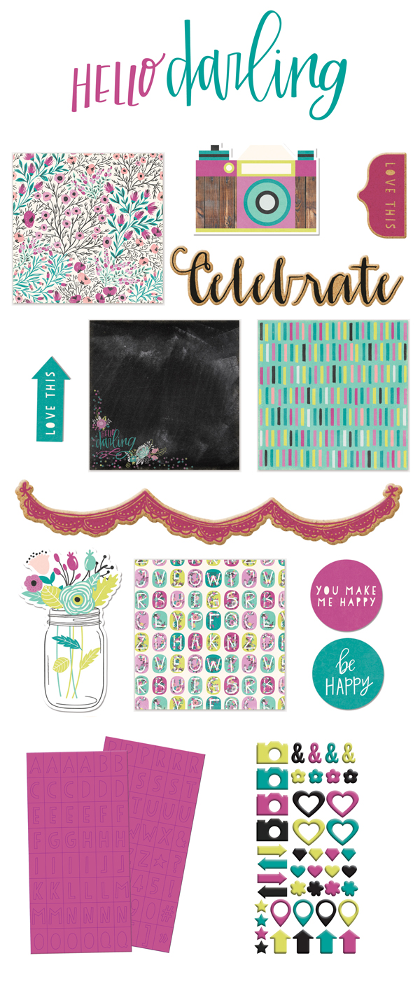 Hello Darling paper collection | We R Memory Keepers