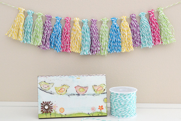 Bakers Twine Tassel Garland by Aly Dosdall