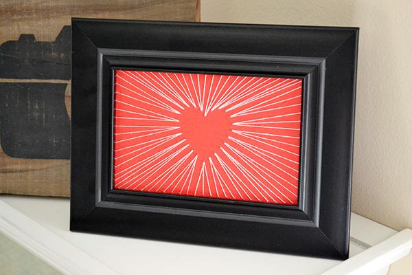 String Art Valentine Frame by Aly Dosdall