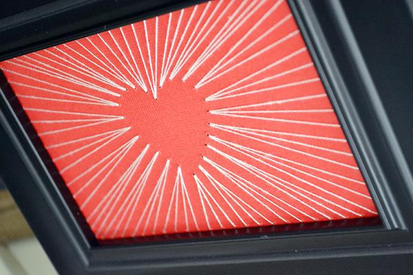 String Art Valentine Frame by Aly Dosdall_close