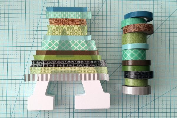 washi tape letter 1