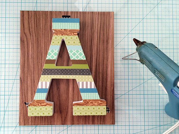 washi tape letter 6