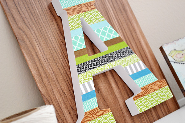 Washi Tape Letter Decor by Aly Dosdall_close
