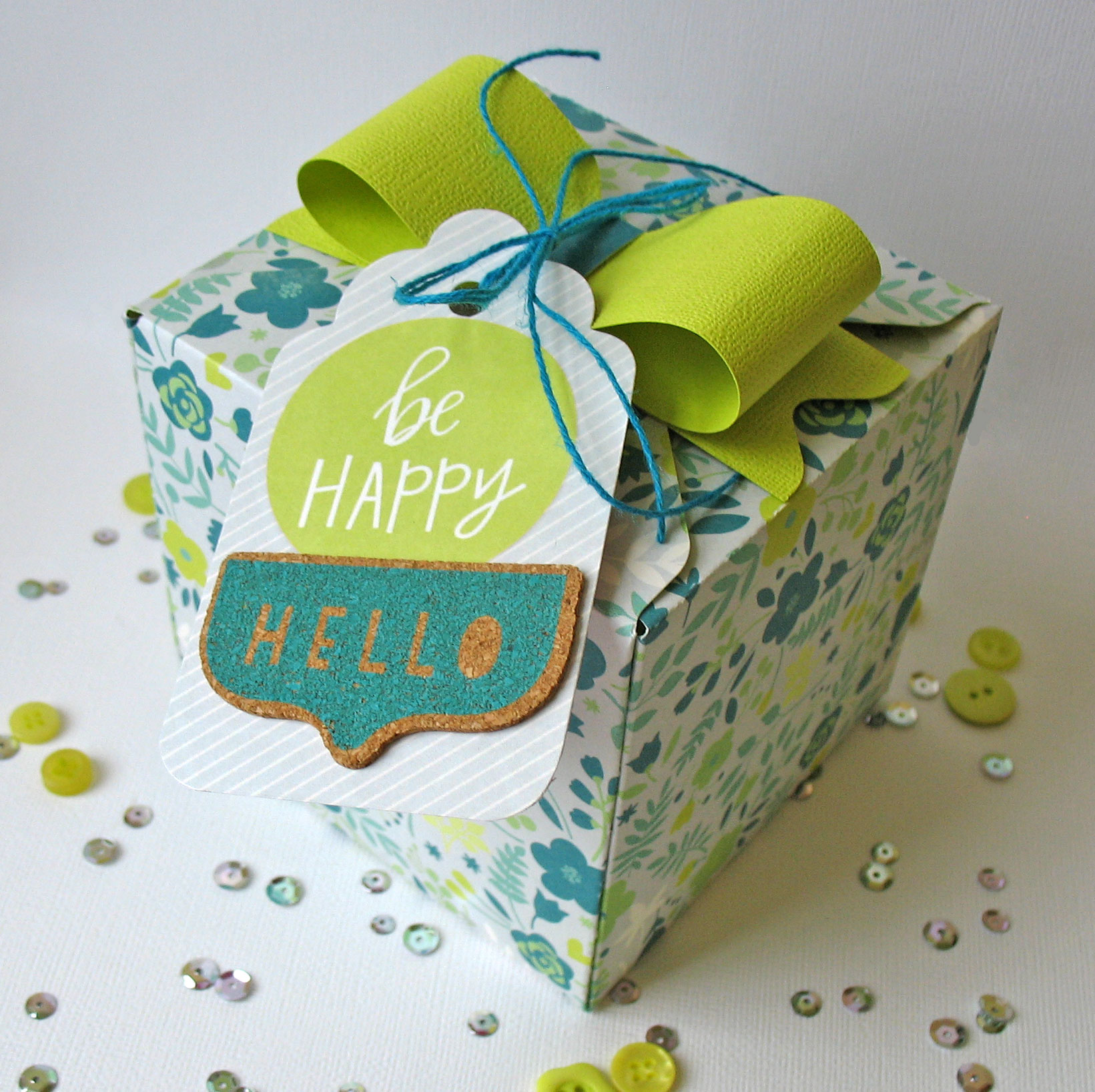 Easter gift box we r memory keepers blog 150326 be happy box negle Image collections