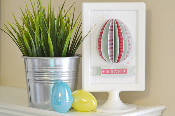 Folded Easter Egg Frame by Aly Dosdall 1