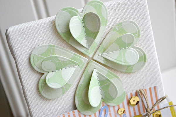Paper Shamrock Decor by Aly Dosdall 2
