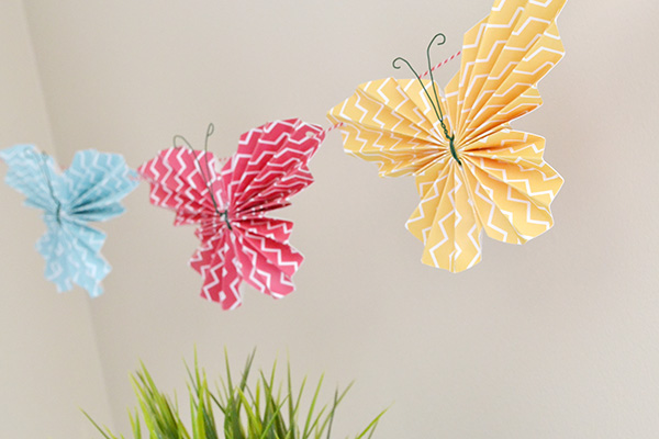 Folded Butterfly Garland by Aly Dosdall 2