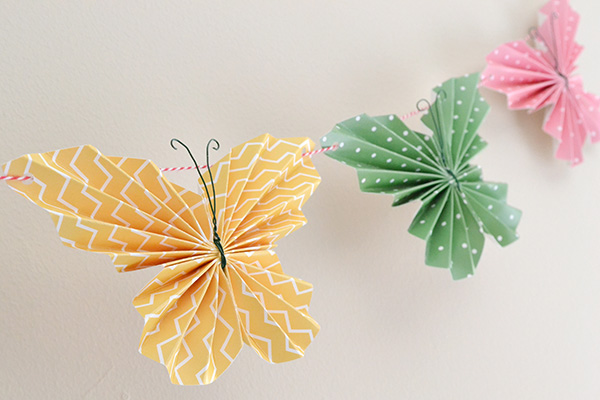 Folded Butterfly Garland by Aly Dosdall 3