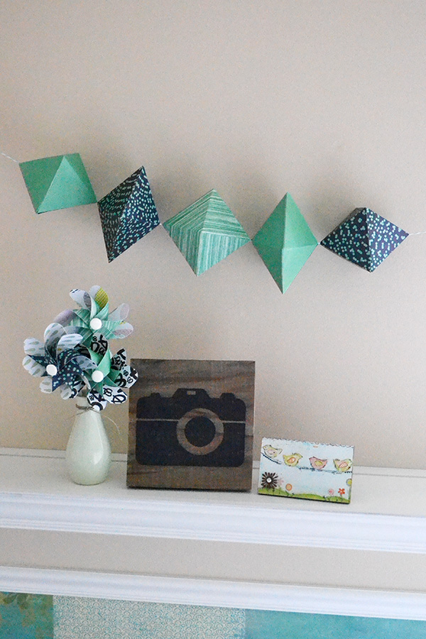 Paper Gem Garland by Aly Dosdall