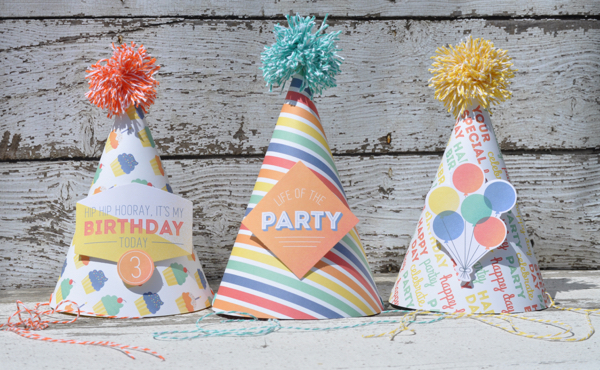 Party Hats {Free Printable Template} | We R Memory Keepers Blog