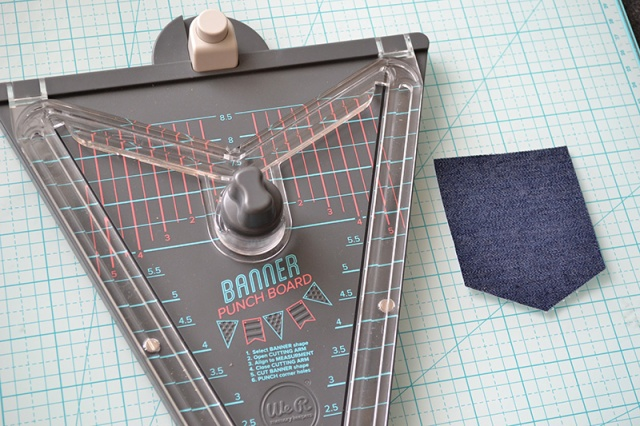 create a pocket with the banner punch board
