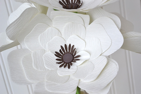 crepe paper flowers from kit by aly dosdall