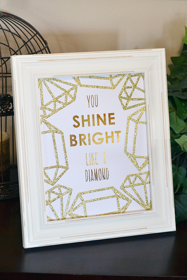 DIY gold foil Mothers Day print made with the minc