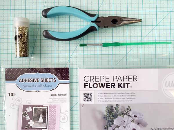 supplies to make glitter bottle