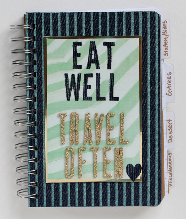 Eat Well Travel Often Mini Album by Samantha Taylor 1