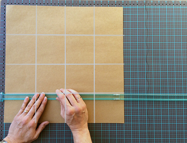 ... u2033. Your poster board should now look like a grid with 4u2033 squares