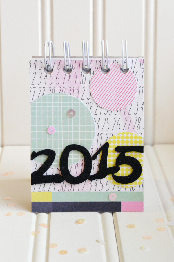 2015 Desk Calendar made with The Cinch by Aly Dosdall