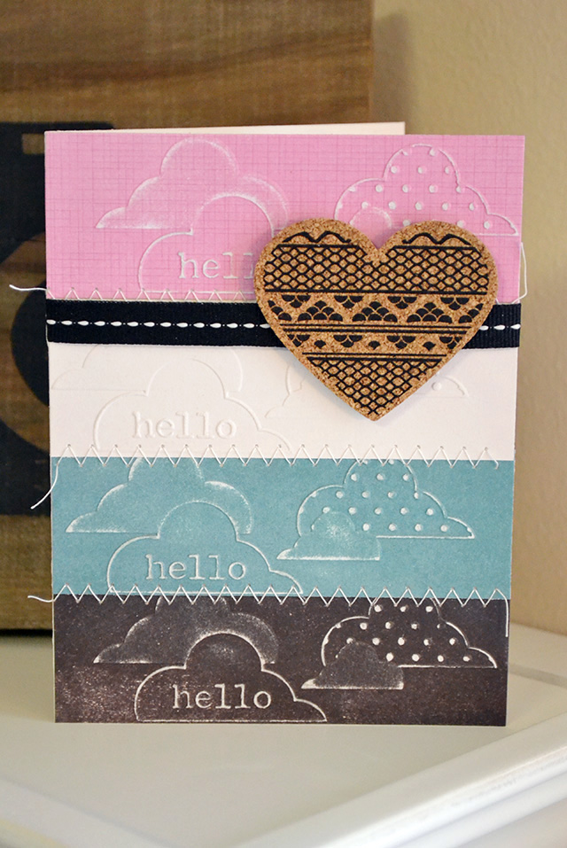 hello clouds embossing folder card by aly dosdall