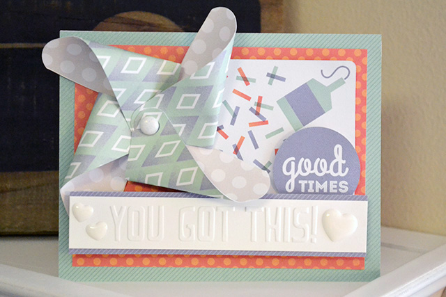 you got this embossing folder card by aly dosdall