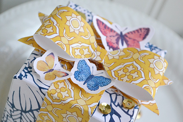 gift box with paper bow by Aly Dosdall