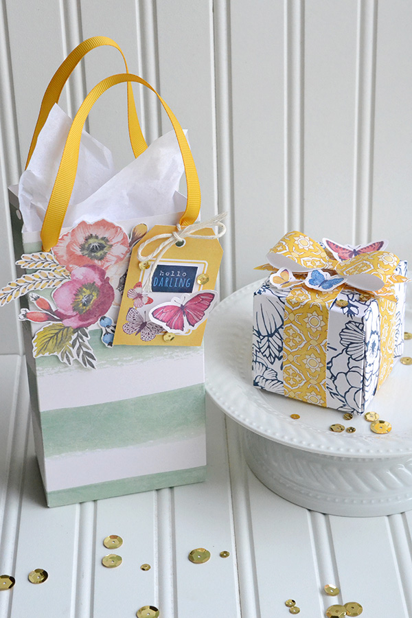 Wildflower Gift Bag and Box by Aly Dosdall