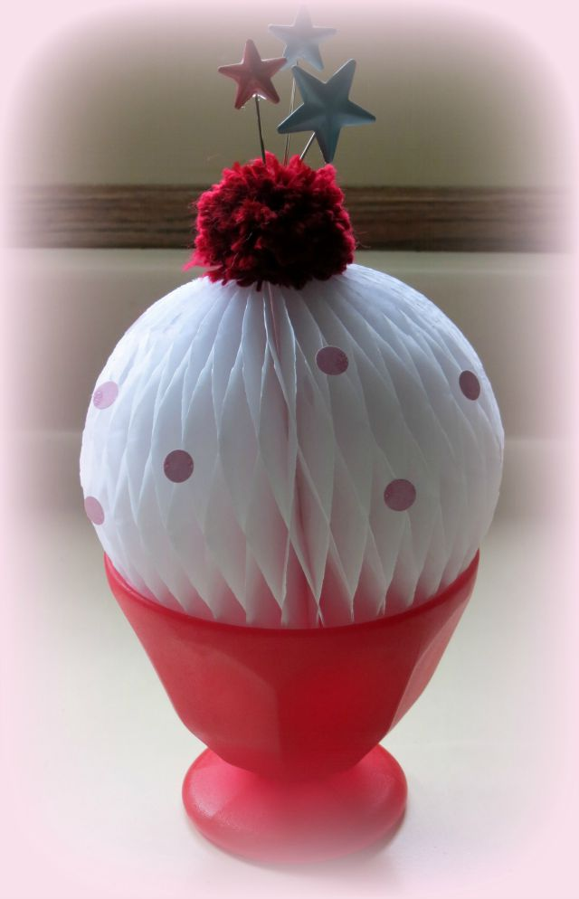 Ice Cream Sundae Party Centerpiece by Carrie Walz for We R Memory Keepers #DIYParty #parties #partydecor