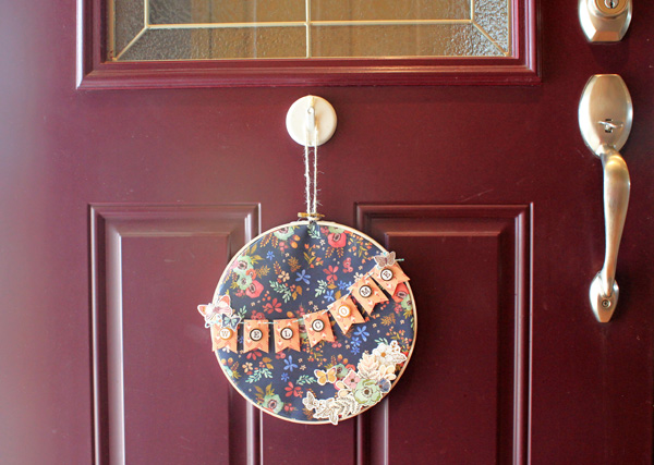 Embroidery Hoop Welcome Sign by Samantha Taylor featuring the We R Memory Keepers Wildflower collection.