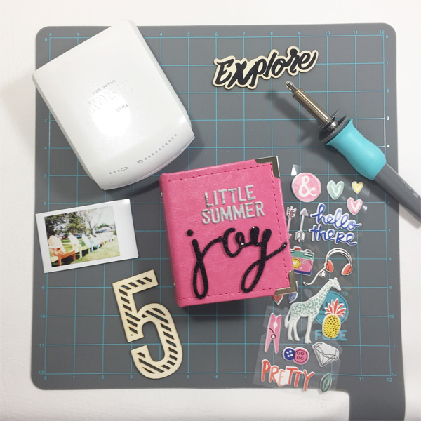 Instax Mini Album by Aimee Maddern for We R Memory Keepers #fujifilminstax #instax #minialbum