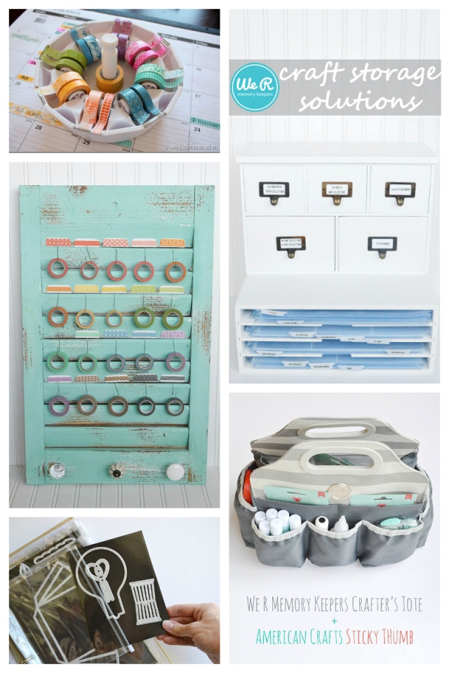 We R Memory Keepers Storage Solutions #craftroom #storage #organization #wermemorykeepers