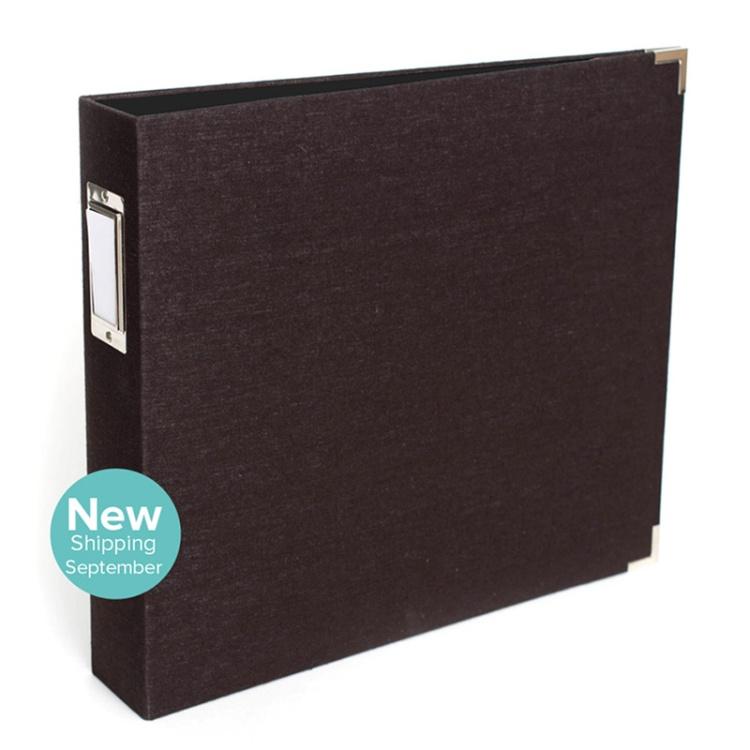12x12 Black Linen Album from We R Memory Keepers #scrapbook #scrapbooking