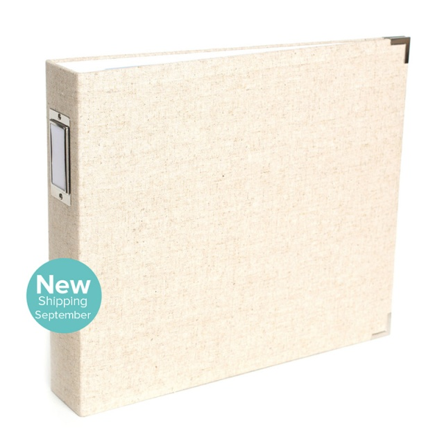 12x12 Natural Linen Album from We R Memory Keepers #scrapbook #scrapbooking