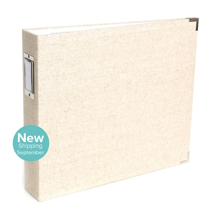 12x12 Natural Linen Album from We R Memory Keepers #scrapbook #scrapbooking