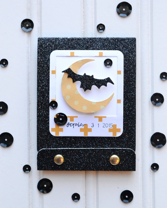 DIY Halloween Matchbook Mini Album by Aly Dosdall for We R Memory Keepers #templatestudio #halloweencrafts #minialbum