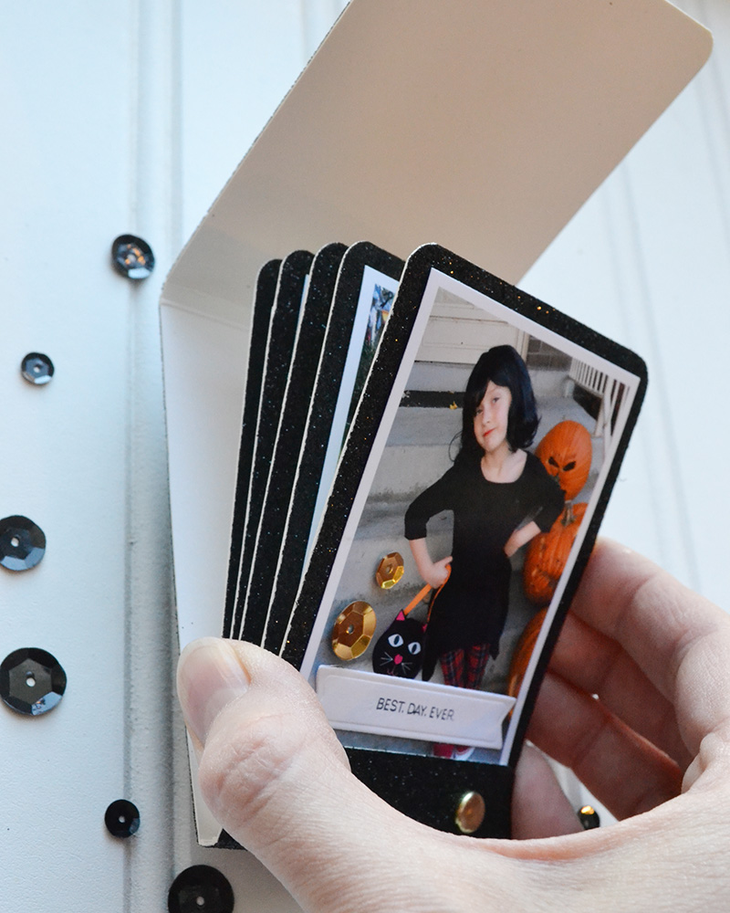diy halloween matchbook mini album we r memory keepers blog. Black Bedroom Furniture Sets. Home Design Ideas