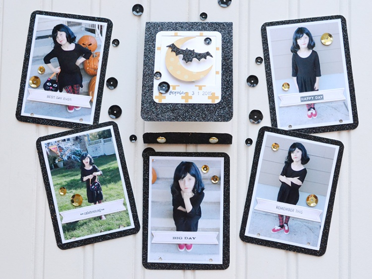 DIY Halloween Matchbook Mini Album by Aly Dosdall 7