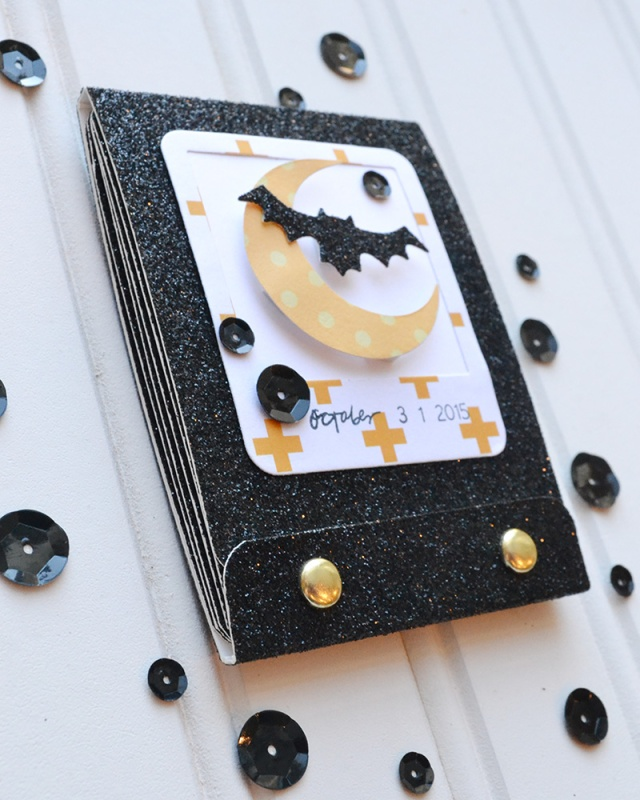 DIY Halloween Matchbook Mini Album by Aly Dosdall 8