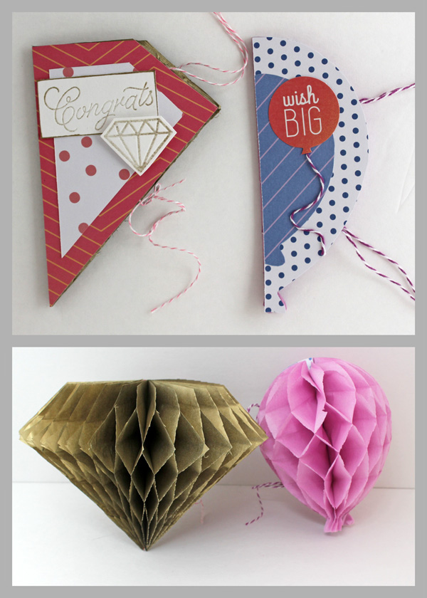Honeycomb Card and Decoration by Samantha Taylor for We R Memory Keepers #DIYParty #cards #decor