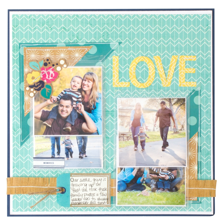 We R Memory Keepers Fuseables Scrapbook Layout