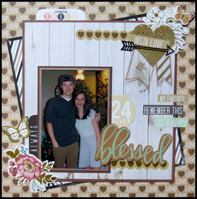 Blessed layout by Carrie Walz for We R Memory Keepers
