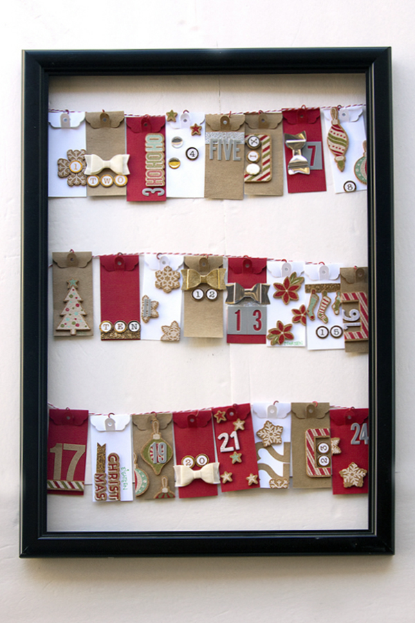 Tag Punch Christmas Countdown by Jennie McGarvey for We R Memory Keepers #christmascountdown #DIYParty #tagpunch