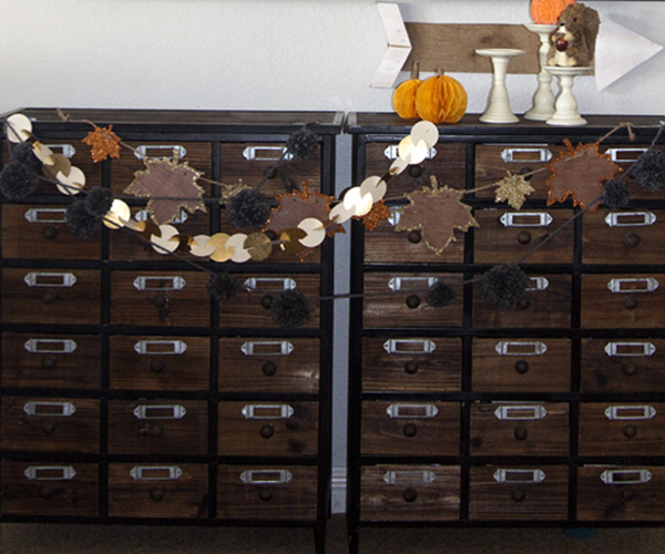 Thanksgiving Decor by Jennie McGarvey for We R Memory Keepers #thanksgivingdecor #DIYParty