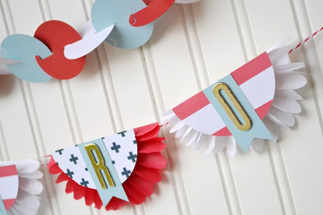 Military Hero Banner by Aly Dosdall for We R Memory Keepers #DIYParty #veteransday #patrioticcrafts